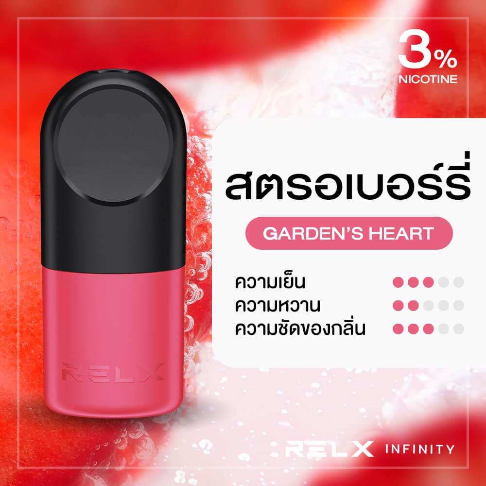 RELX Infinity Pod Flavor Garden's Heart Strawberry